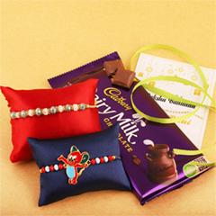 Cheerful Rakhi Set with Cadbur..