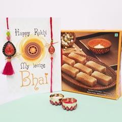 Colored Bhaiya Bhabhi Rakhi wi..