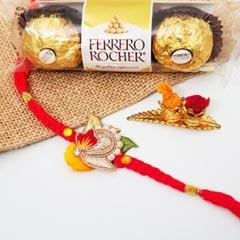 Floral Rakhi & FR 3 pcs