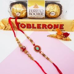 2 Beaded Rakhis & Chocos