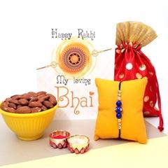 Studded Beads Rakhi with Almon..