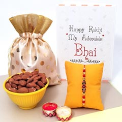 Fancy Rakhi with Almonds