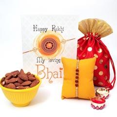 Rudraksh Rakhi with Almonds