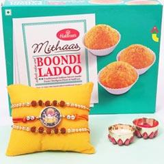 Spiritual Rakhi Set with Boond..