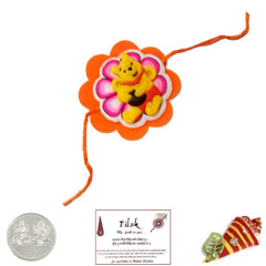 Pooh Bear Rakhi with Free Silv..