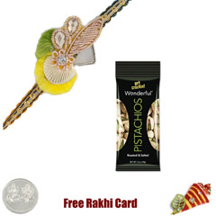 Zardosi Rakhi with 50 grams Pi..