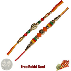 Set of 2 Beaded Rakhi