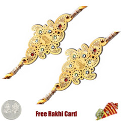 24 Ct. Gold Rakhi  Set of 2