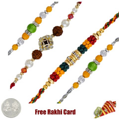 Set of 4 Fancy Rakhi