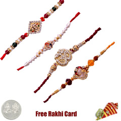 Set of 4 Religious Rakhi