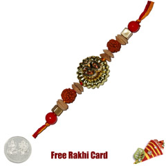 Om Rudrakh Fancy Rakhi  with F..