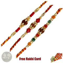 Rudraksh Rakhi Set of 3