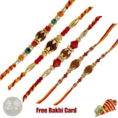 Rudraksh Rakhi Set of 5